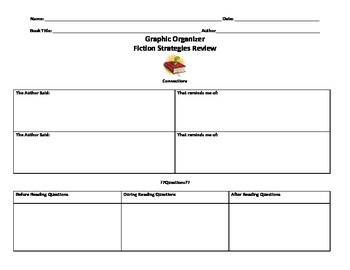 Fiction Graphic Organizer for Any Book