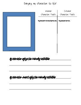 Fiction Graphic Organizers
