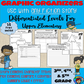 Fiction Graphic Organizers Use With Any Story, Book Companion