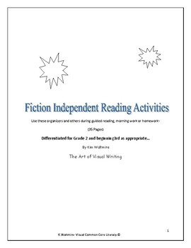 Fiction Independent Reading Activities  Grade 2 & Beginning 3rd