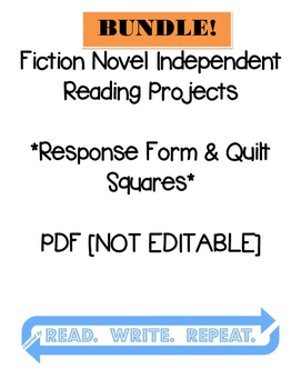 Fiction Independent Reading Project BUNDLE: [QUILT] with R