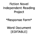 Fiction Independent Reading Project [FORM]: Word Doc
