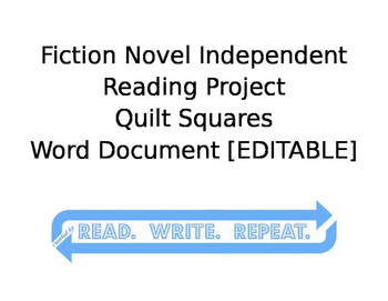 Fiction Independent Reading Project [QUILT] with Rubric: Word Doc
