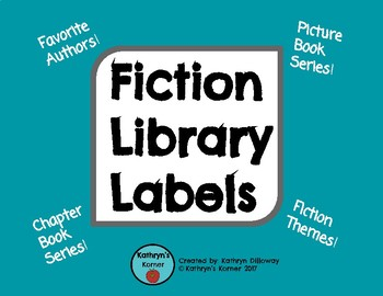 Fiction Library Labels