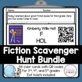 Fiction Library Scavenger Hunt Bundle with QR Codes
