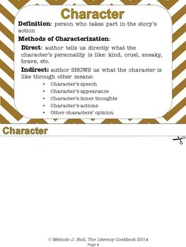 Fiction: Literary Analysis Flipbook for Students
