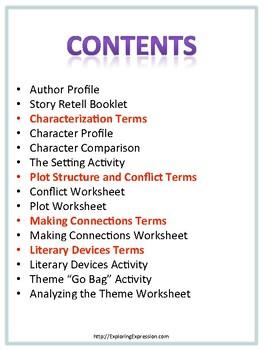 Fiction Literary Analysis Packet