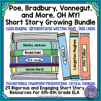 101 days of school letter teaching resources teachers pay teachers short story growing bundle for middle school ela fandeluxe Gallery