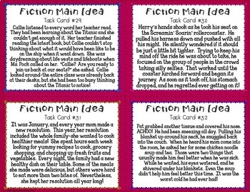 Fiction Main Idea Task Cards