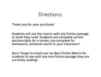 Fiction Matrix