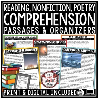 Close Reading Comprehension Passages 4th Grade & 5th Grade