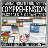 Reading Comprehension Passages and Questions 4th Grade, 3rd, & 5th