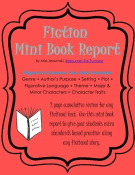 Fiction Mini Book Report