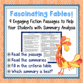 Fiction Mini-Passages with Summary Analysis-Group Test Pre