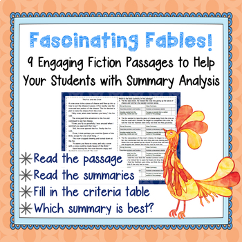 Fiction Mini-Passages with Summary Analysis-Weed Out the W