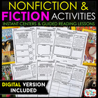 Fiction and Nonfiction Reading Centers | Graphic Organizers for Reading EDITABLE