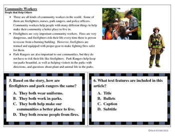 Reading Practice Passages - Task Cards - Unit 1