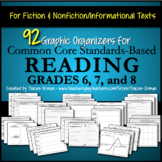 Reading Graphic Organizers Fiction and Non-Fiction Grades 6, 7, 8