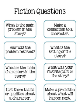 Fiction & Non-Fiction Reading Questions