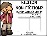 Fiction Non-Fiction Sort FREEBIE!