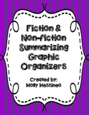 Fiction & Non-Fiction Summarizing Graphic Organizers
