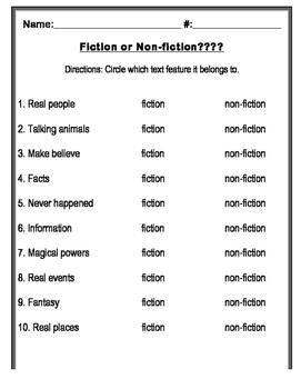 Fiction & Non-fiction Quiz