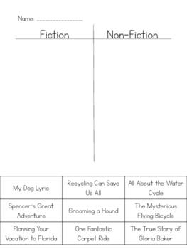 Fiction & Non-fiction Sort