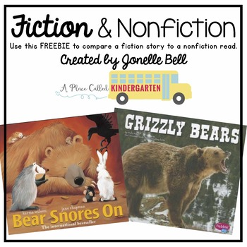 Fiction & Nonfiction Book Comparison FREEBIE