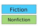 Fiction Nonfiction Book Tub Signs