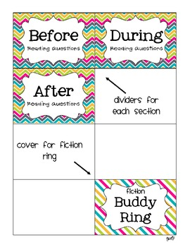Fiction & Nonfiction Buddy Rings - Before, During, & After Questions