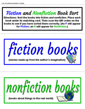Fiction & Nonfiction Center Activities for K-2