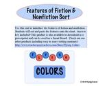 Fiction - Nonfiction Features Sort ~ Answer Key
