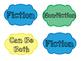 Fiction/Nonfiction Library Labels