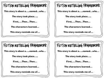 Fiction & Nonfiction Oral Retelling Frameworks