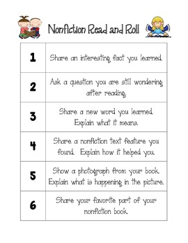 Fiction & Nonfiction Read and Roll Activities