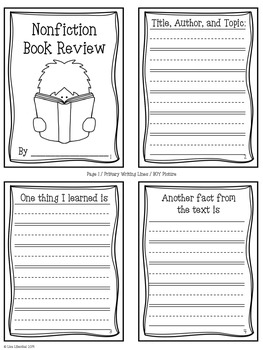 Fiction & Nonfiction Reading Responses ~ Accordion-Fold Mini-Books