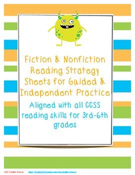 Fiction & Nonfiction Reading Strategy Sheets (Bundled)