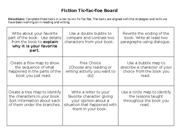 Fiction & Nonfiction Reading/Writing Activity Board