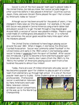 Fiction & Nonfiction Test Prep - Soccer