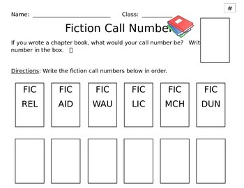 Fiction, Nonfiction, and ordering Dewey Decimal numbers