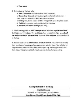 Fiction Paper Bag Book Report