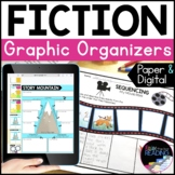 Fiction Paper and Digital Reading Comprehension Graphic Organizers Bundle