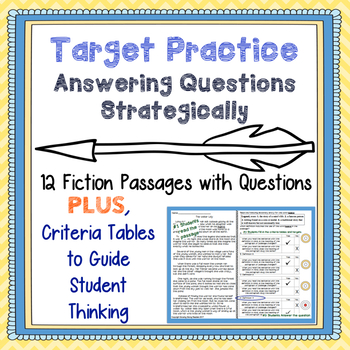 Fiction Passages w/ Questions-Vocab, Character Analysis, F