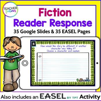 Google Classroom Activities Paperless Reading Response Task Cards (Fiction)