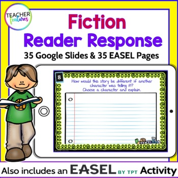 GOOGLE CLASSROOM READING ACTIVITIES Paperless Fiction Response Task Cards
