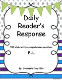 Fiction Reader's Response Daily Practice  TRC Question Stems F-G