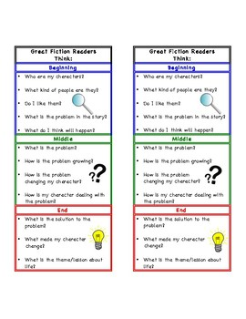 Fiction Reading Bookmark