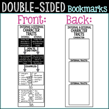 Fiction Reading Bookmarks for Fiction Reading Response, Reading Comprehension
