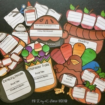 Fiction Reading Comprehension Craftivities - FALL