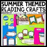 SUMMER Fiction Reading Comprehension Craftivities